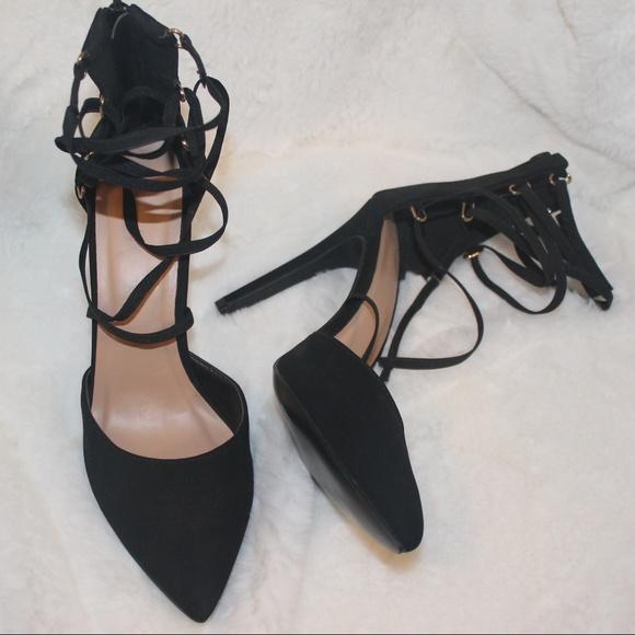 b9cedcf6de0 Forever 21 Shoes - Sexy Black Strappy Heels